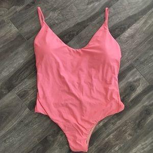 NWOT J crew scoop-neck  pink one piece swimsuit